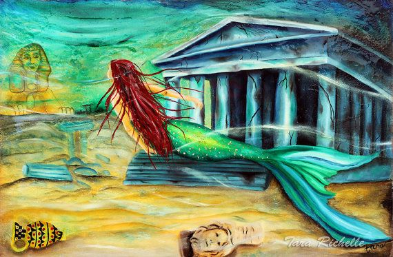 Mermaid Art Mermaid Painting Mermaid Tattoo Lost City