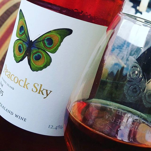 Autumn wine on Waiheke Island.  @peacockskyvineyard  #peacockskyvineyard #rose #autumnvineyard #music #vineyard #wineofinstagram #winesnob #wineofwaiheke #happyplace #wine #winetime #winelunch #wineoclock #wineday