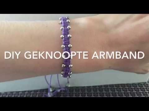 diy sieraden: geknoopte armband - YouTube