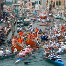 #Vogalonga a Venezia il 27 maggio 2012  Wow! It was wonderful chaos! Was in a coxed 4x: 3 Americans, 1 German & 1 Italian. Perfect weather!