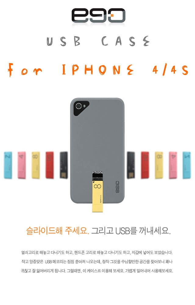 EGO Usb Case for iphone 4/4S