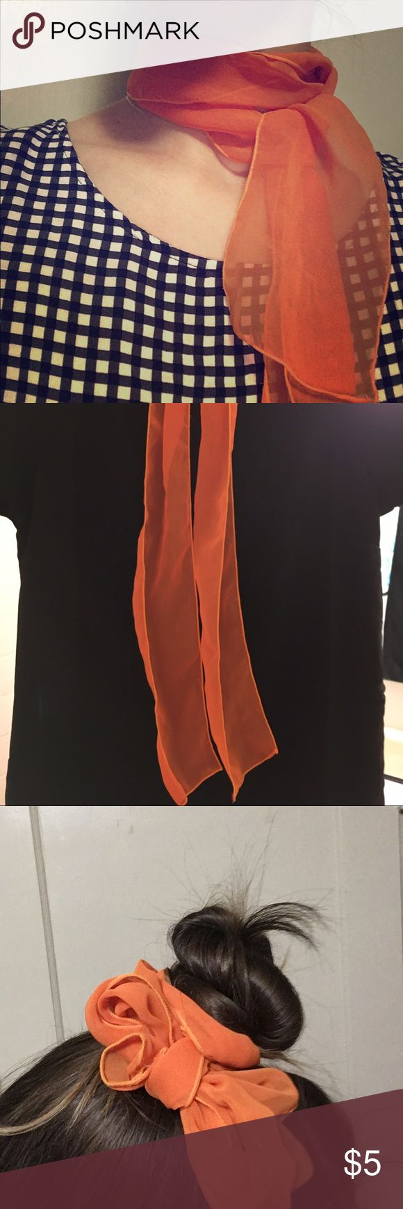 Orange scarf Great for hairstyles and just as a scarf. Unfortunately I never wear orange Accessories Hair Accessories