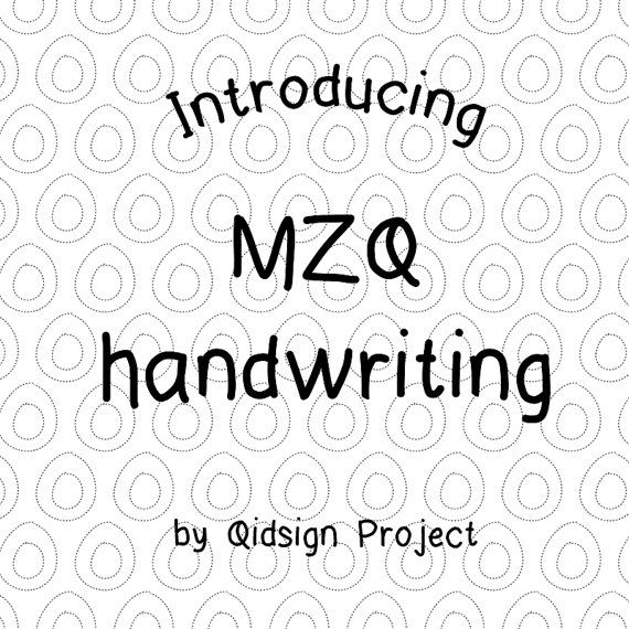 Hey, I found this really awesome Etsy listing at https://www.etsy.com/listing/248271807/mzq-hand-writing-digital-font-hand