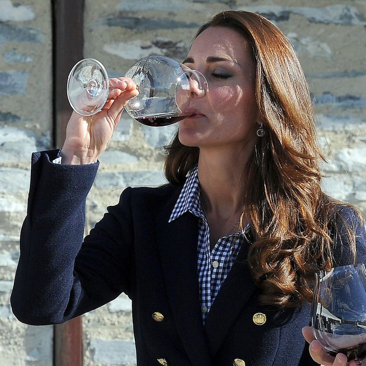 With 1 Glass of Wine, Kate Middleton Ends Pregnancy Speculation: Prince William and Kate Middleton on Sunday toured the Amisfield Vineyard below the picturesque mountains of Queenstown, New Zealand.