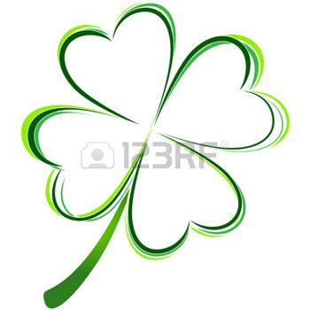 four leaf clover: vector illustration of green clover picture Illustration