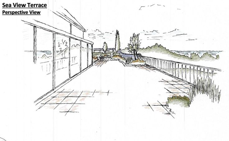 New sea view terrace to Wicklow coastal garden