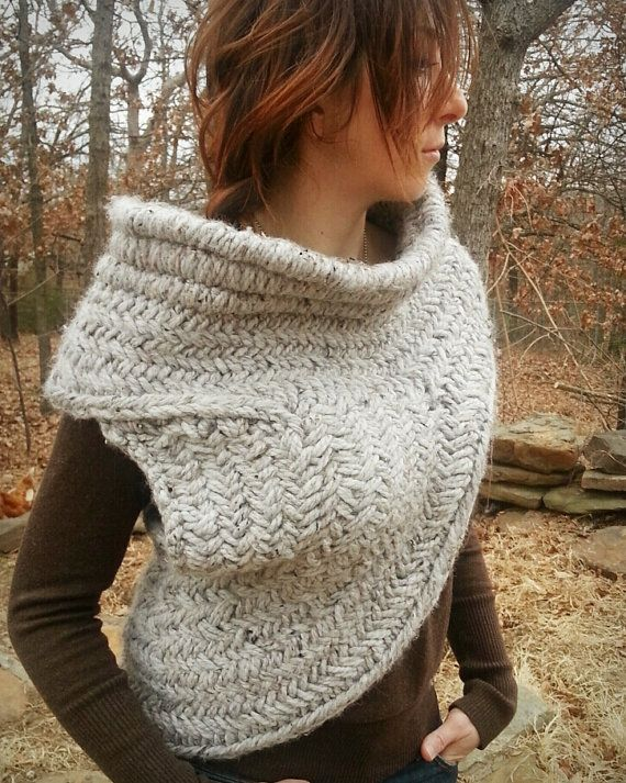 Katniss Cowl with Vest Knitting Pattern by WoolfsClothing on Etsy