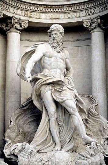 Neptune statue at Trevi - Rome
