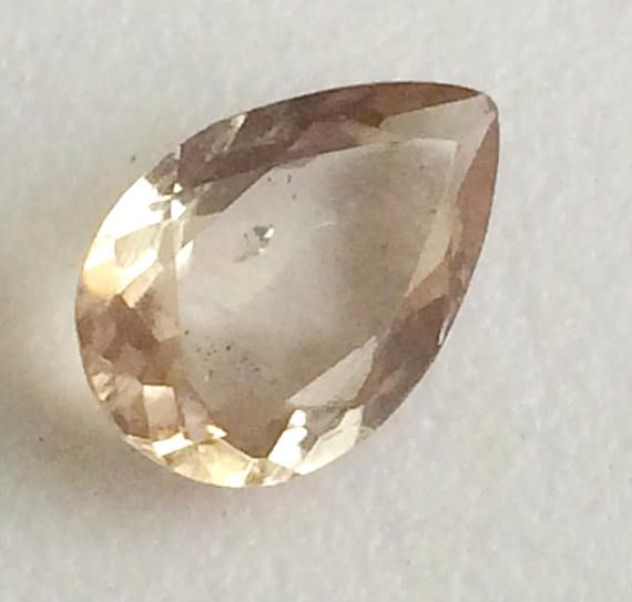 1 Pc 8x12mm Imperial Topaz Faceted Pear Cut Stone 2.55 Cts