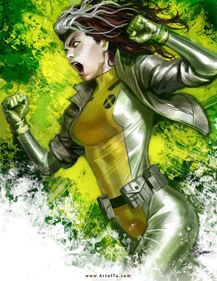 X-MEN: Rogue by ArtofTu...Las ilustraciones no tienen que ser tan detalladas, chequen este trabajo, donde lo importante son las texturas.