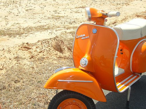 Vespa - orange vintage vespa: flickr::vespa travel