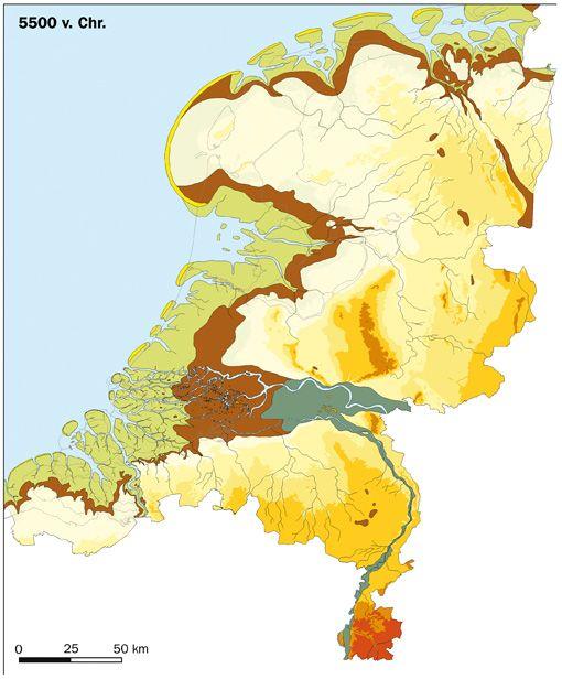 Nederland rond 5500 v.Chr.