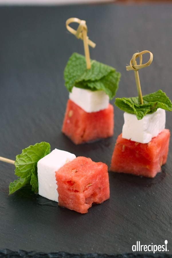 Make Watermelon Salad on a Stick for a simple 3-ingredient summer appetizer. Great for showers, bbq's and easy entertaining.