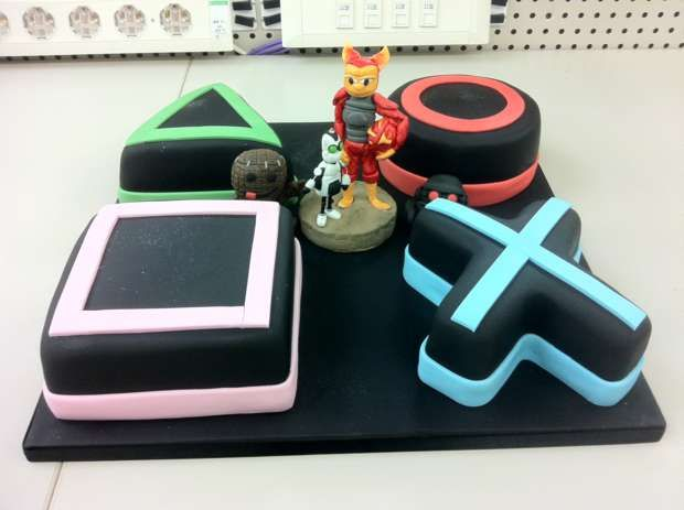 Playstation cake.