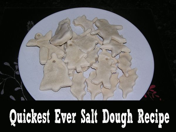 The quickest ever salt dough recipe - dry salt dough for decorations, gifts and anything else you need in 3 - 4 mins (yes minutes not hours).