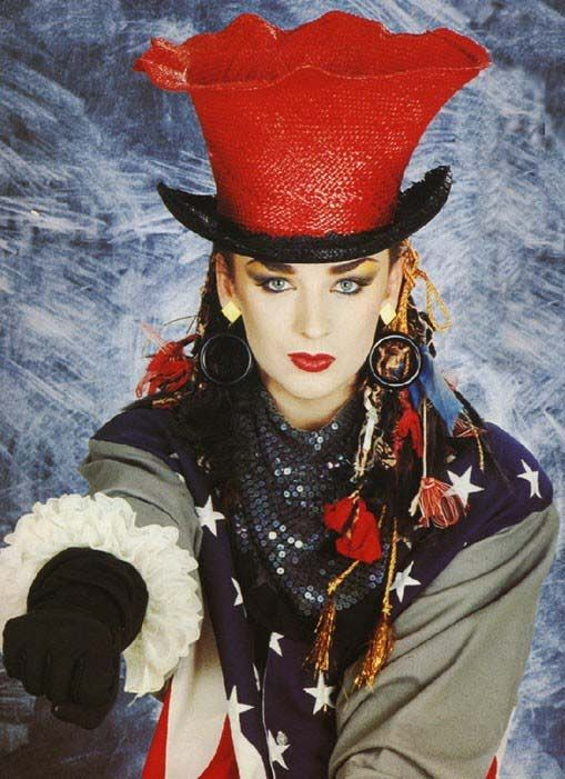 Boy George, Culture Club. Loved him, but could never stand the music.  The melodies and lyrics were soooo simplistic. Same prob with the melodies of Eurythmics and New Order.