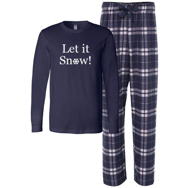 Let It Snow Flannel Pj Set Adult Christmas Pajamas Christmas Flannel... (£25) ❤ liked on Polyvore featuring intimates, sleepwear, pajamas, dark olive, women's clothing, flannel pajamas, long sleeve pajamas, christmas pyjamas, pj pants and flannel sleepwear