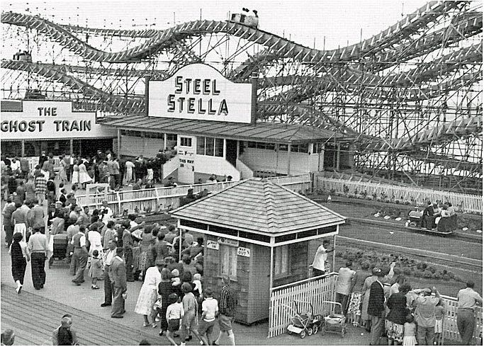 Steel Stella, Clacton Pier, along with Ghost Train and Peter Pan Railway.