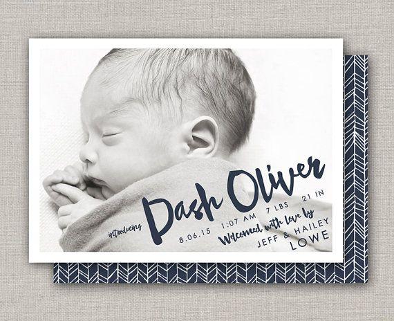 Geboortekaartje Baby - Boy: Dash