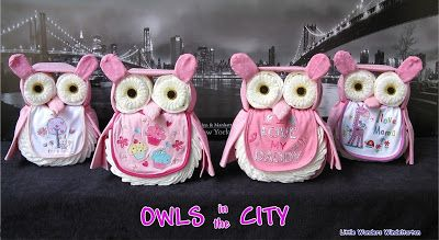 Little Wonders Windeltorten: Owls in the City