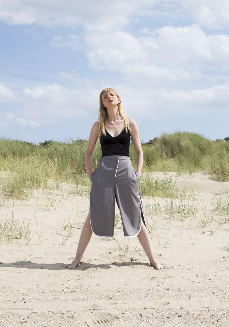 Honest handmade grey pants