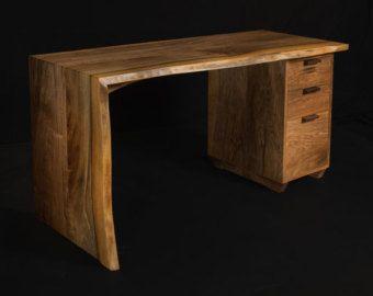 No. 1  Live Edge English Walnut Desk Slab Desk door DougJamesDesign