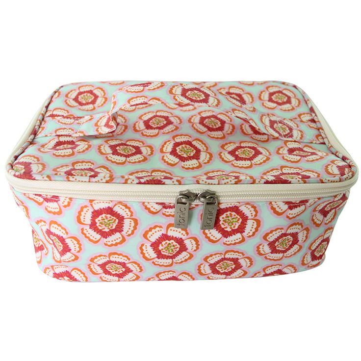 Flora Pink Large Makeup Bag