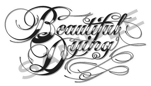 Tattoo Script Font Letters Old English ( love the style of the font !!