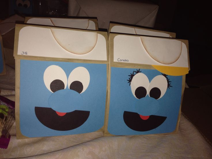 Smurf treat bags