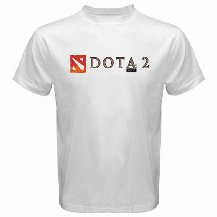 BEAUTIFUL 2017 DOTA 2 Defense of The Ancients Multiplayer Game Logo White T-Shirt Size S To 4XL
