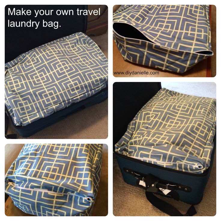 How to make your own custom laundry bag for traveling. #sewing #travel