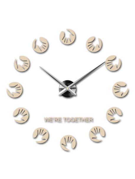 Ceas de perete color - Palmele mamei Referinta  12S016-RAL1015-S-COLOR** Alege o culoare de unul singur! Timpul a venit mult mai confortabil REALIT ceas nou. 3D Ceas de perete mare este un decor frumos al interiorului. Nu vei fi niciodată târziu.