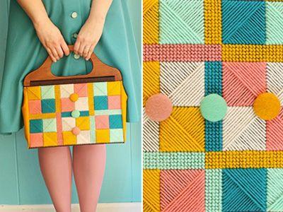"DIY ""vintage"" needlepoint bag - looks pretty easy!"