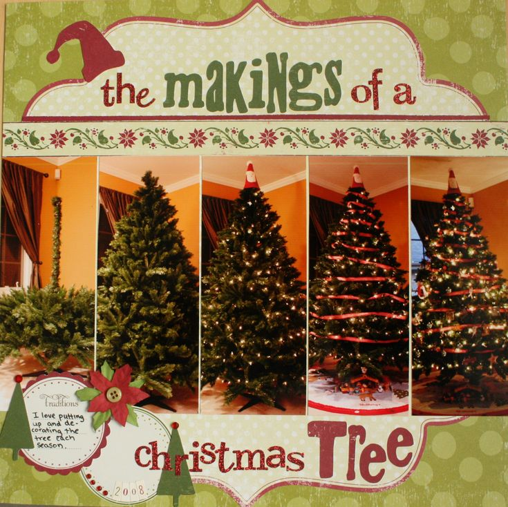 The Makings of a Christmas Tree using the MM Slice - Scrapbook.com