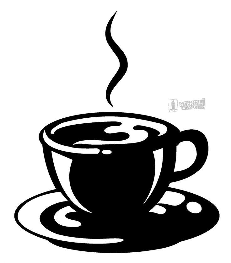 coffee cup stencil