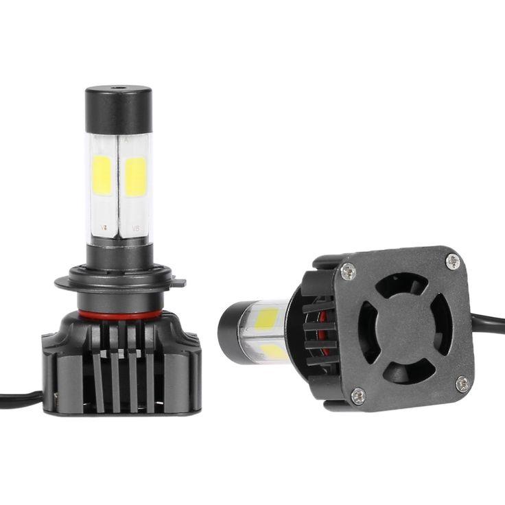 Pair of 80W 9600LM H7 Car High Power COB LED Headlight Fog Sale Online Shopping 6000k - Tomtop.com
