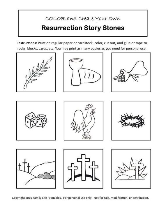 Color Your Own Resurrection Story Stones Images Easter Story Etsy In 2021 Easter Story Easter Christian Story Stones
