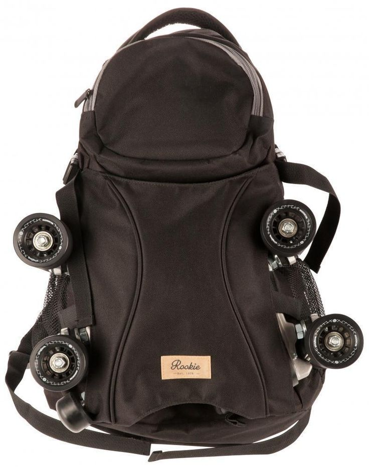 Rookie 26L Skatepack The perfect bag to keep your skates safe and secure whether you are on your way to a game, down the skatepark or off to the Roller Disco Features: Large main compartment, Laptop compartment, Accessories pocket, 2 side pockets for bottles etc, Padded foam back, Adjustable straps, Carry Handle