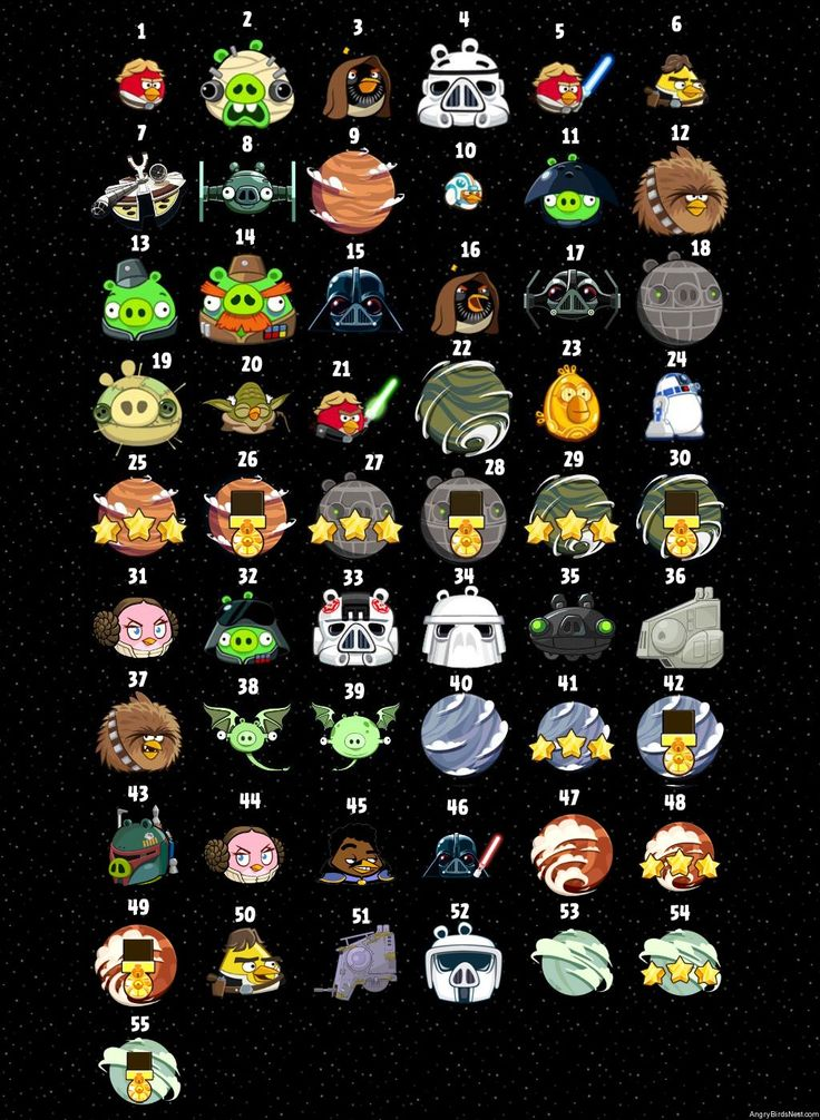 Birds Star Angry Characters Wars 2 Action