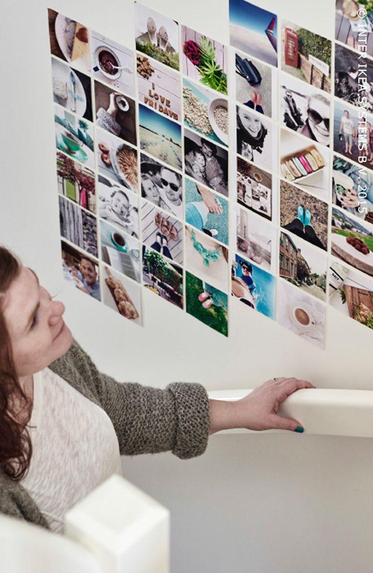 Instagrammuur #IKEABE #IKEAidee #DIY #fotocollage