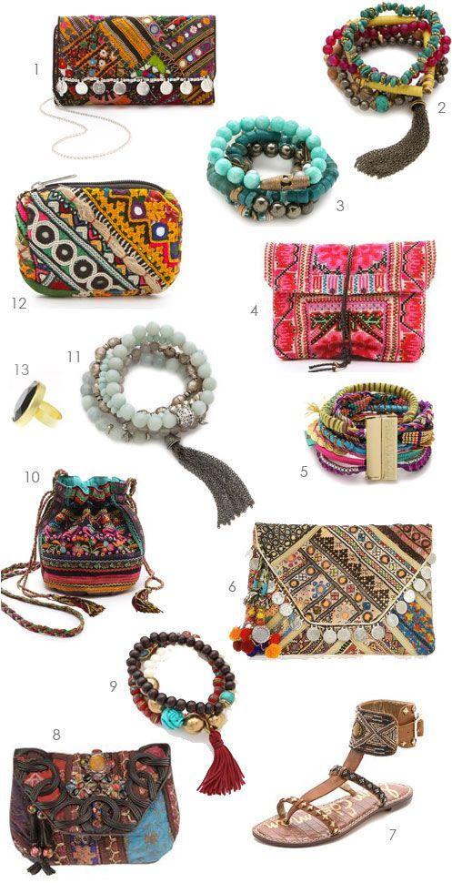 Too Many Boho Accessories To Chose From Bags Bracelets Sandals Boho Me Pinterest Boho