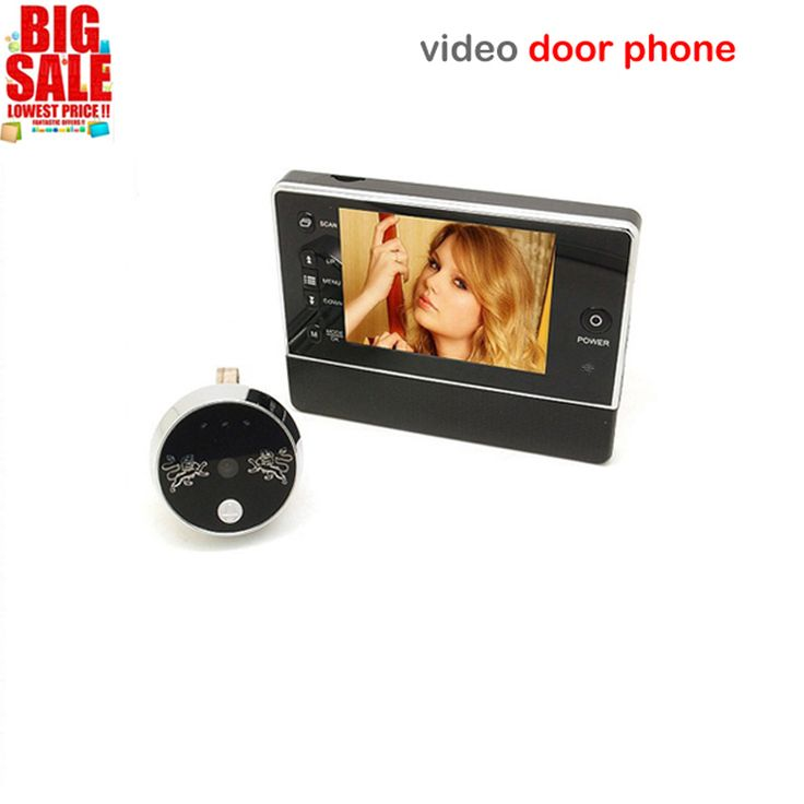 """Hot Sell 3.5"""" LCD Color Screen video door phone Digital Door Viewer Smart Peephole Camera Night Vision Doorbell Home Security //Price: $66.99 & FREE Shipping //     #simpleby"""