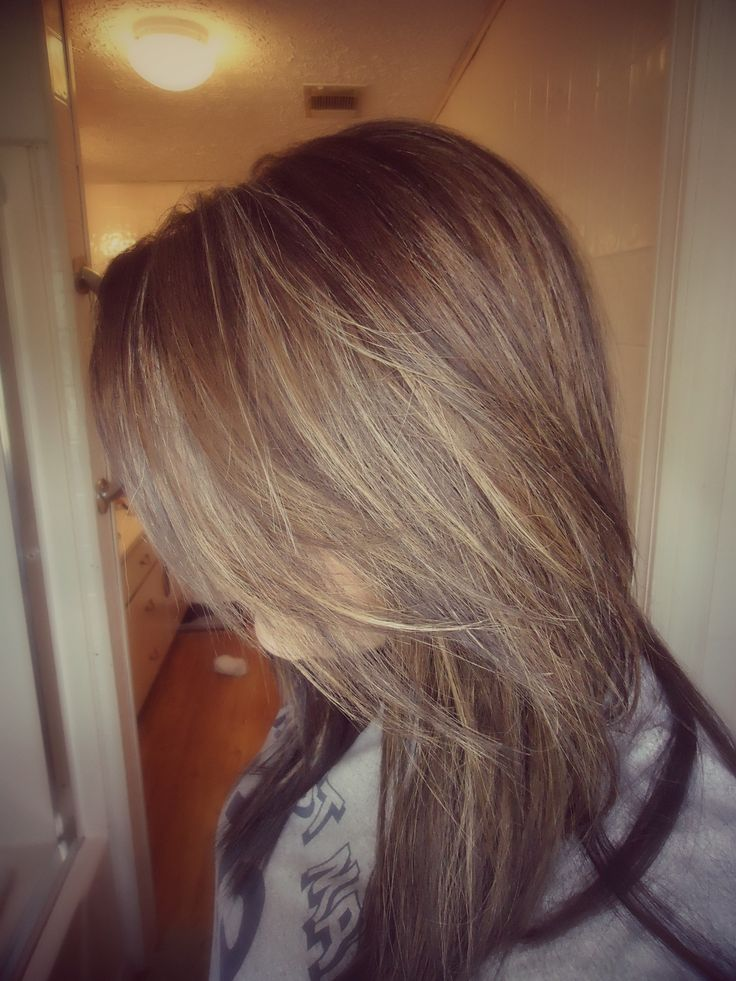 Fall Hair 2013, chocolate raspberry with dark blonde