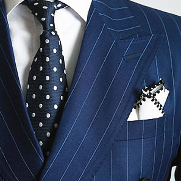 Royal Blue Pinstripe Suit - ChicerMan