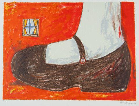 Charles Blackman 'Alice's Shoe' – Angela Tandori Fine Art