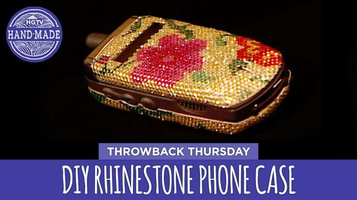DIY Rhinestone Phone Case - Throwback Thursday - HGTV Handmade