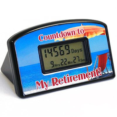 Retirement Countdown Clock - The perfect retirement gift! This is really clever. Now they can count down the days. #unique #gifts