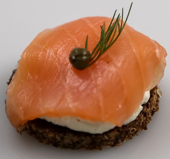 Smoked Ocean Trout on Mini Toast - WA Finger Food Catering Perth Catering to Perth and surrounding areas since 1996. CALL US NOW 1800 216 902!