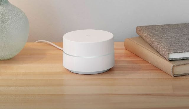 "Google Wifi are small, ""smart"", and white hockey pucks to improve the wifi in your home #Google #GoogleEvent #IoT #GoogleWifi #wifi"