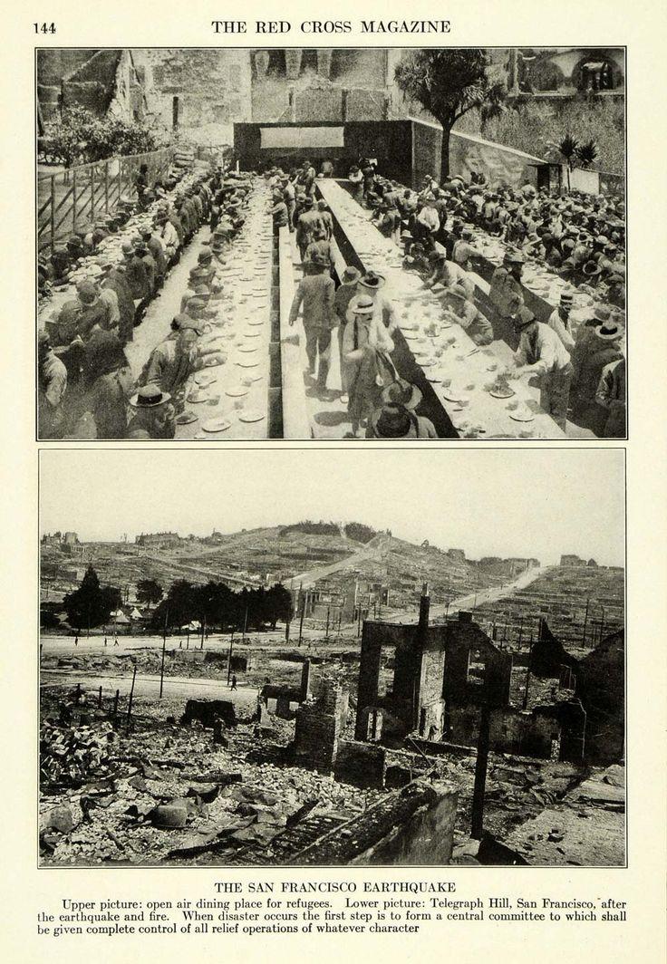 1917 Print Telegraph Hill San Francisco Earthquake